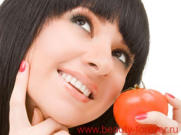 Скраб для лица из томатов, натуральный