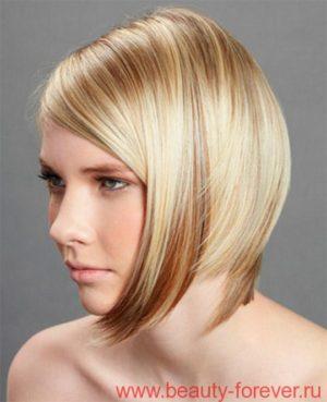 Модные стрижки для средней длинны волос - 2014.