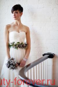 Свадебные прически для коротких волос.