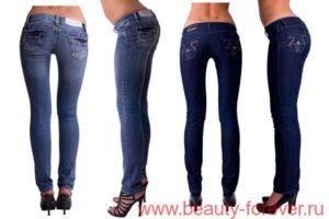 прямые узкие джинсы