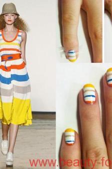 модные узоры на ногтях.