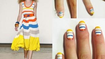 Маникюр: модные узоры на ногтях.