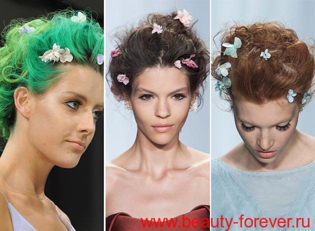"""""""Живые"""" цветы на волосах"""