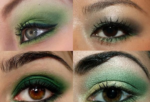 Изумрудно-зеленый макияж (фото + видео-урок).