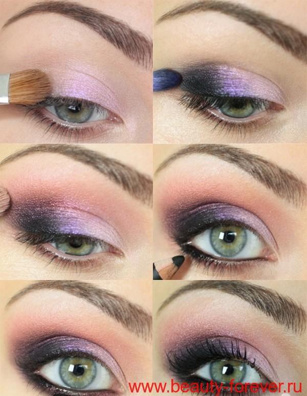 Макияж для зеленых глаз.