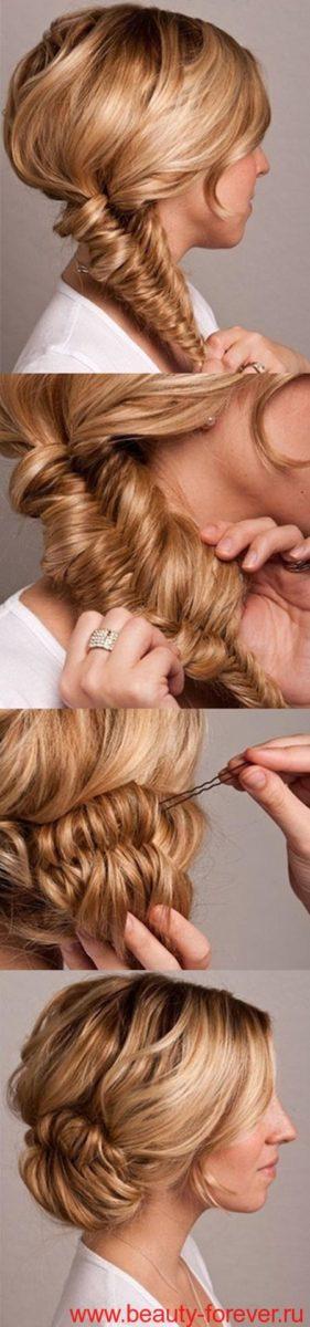 Плетение для средних волос в домашних условиях