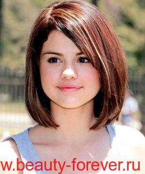 Причёски на круглую форму лица