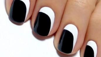 Элегантный черно-белый маникюр