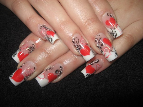 Дизайн ногтей фото к дню святого валентина