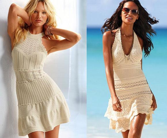 Картинки вязаные крючком летние платья