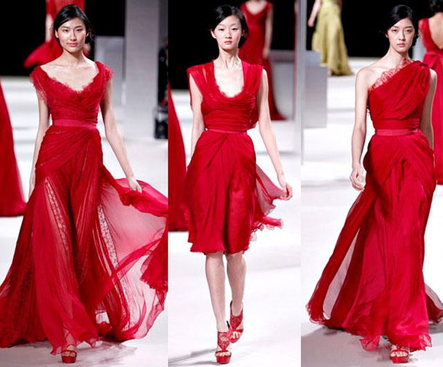 красные модные платья фото