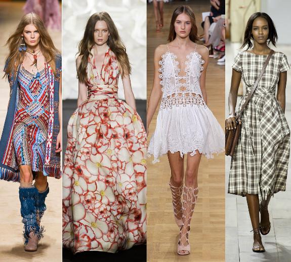 Платья летние мода 2015