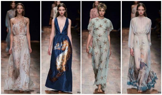 Платья на звездах с модных показов фото