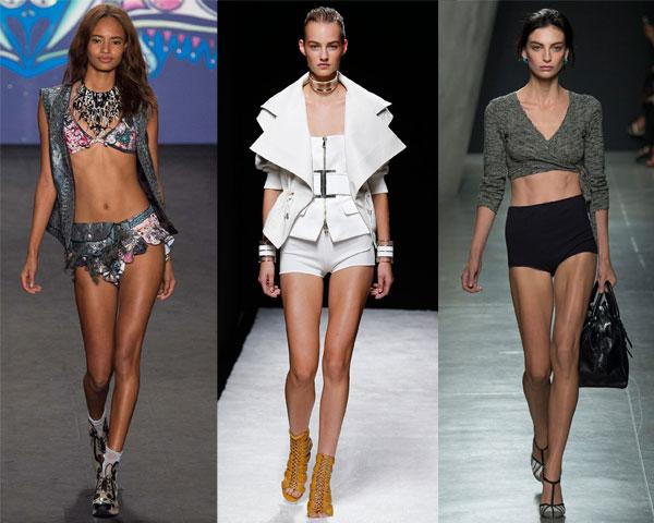 Ультракороткие женские шорты