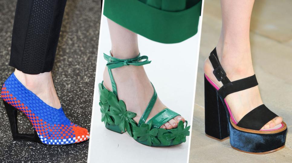 Модная платформа и каблук