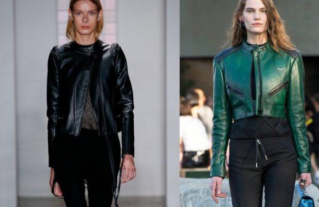 Самые модные кожаные куртки 2017