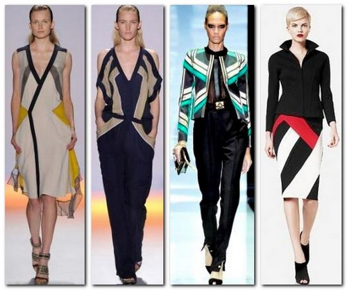 Одежда с геометрическими принтами