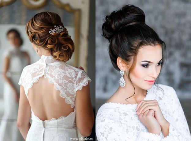 Свадебные стильные причёски