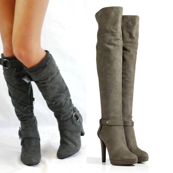 ботинки женские зима 2015  без каблука