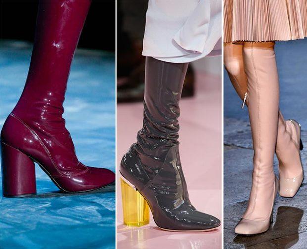 Цветовая гамма модной обуви