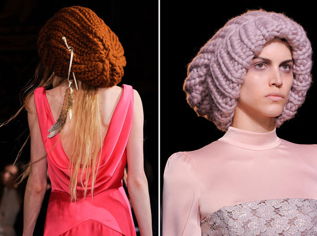 Женские объемные шляпы к элегантному платью