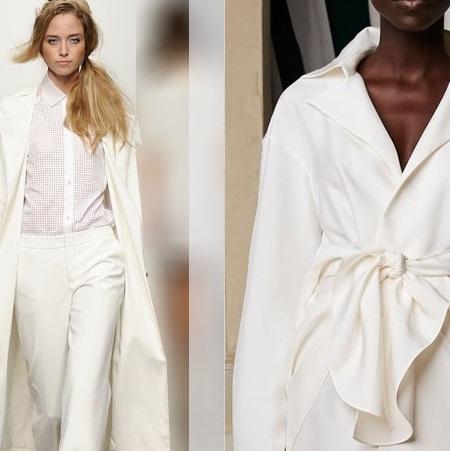 Белые пальто