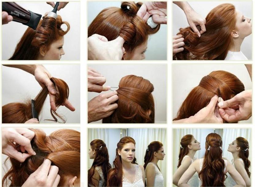 Укладка своими руками длинные волосы
