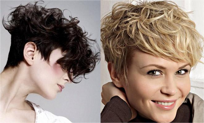 Фото женских причесок на средние вьющиеся волосы