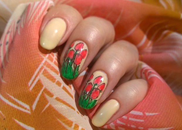 Дизайн с тюльпанами