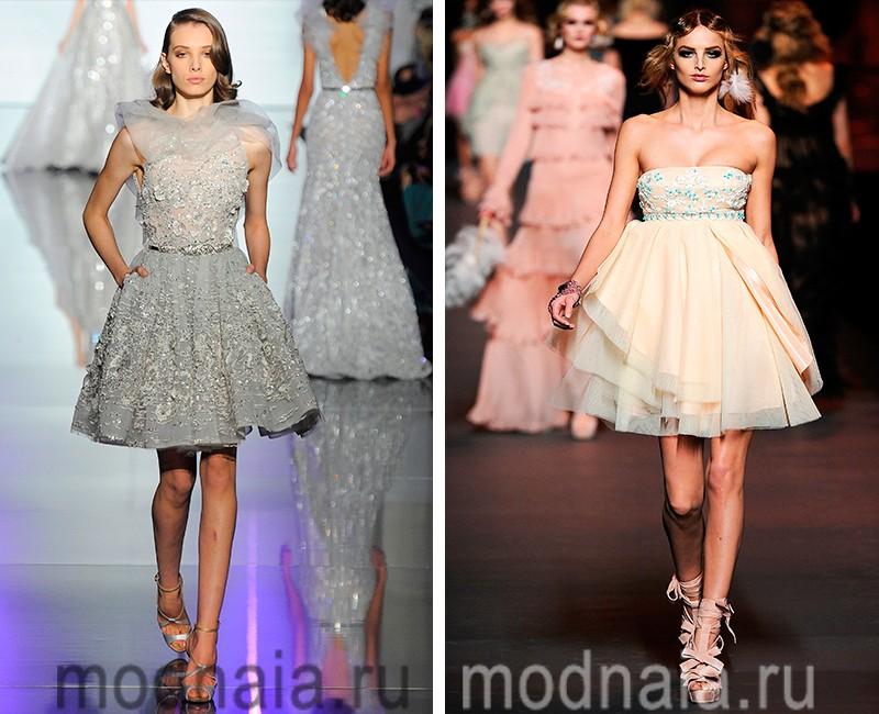 Короткие торжественные платья фото