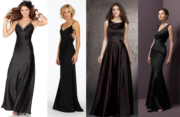 Красивые атласные платье