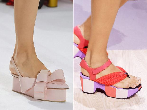 Обувь на сплошной платформе