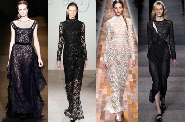 Платья из кружева модные