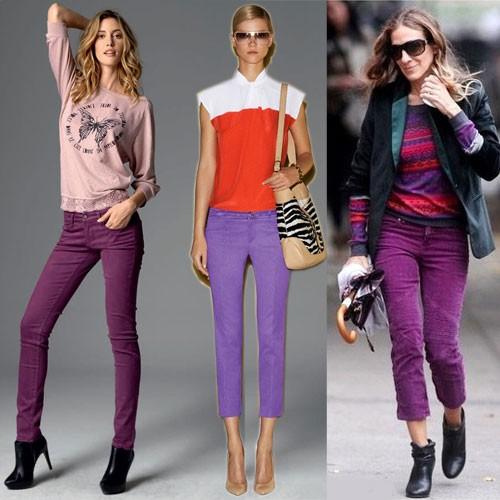 Цветовое решение модных джинс