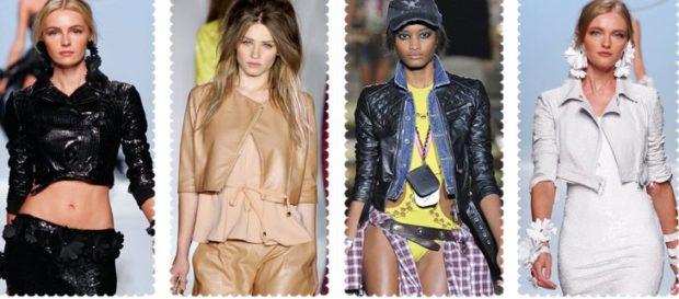 Ультракороткие куртки из кожи