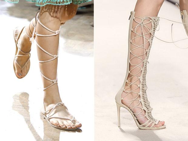 Гладиаторские сандалии
