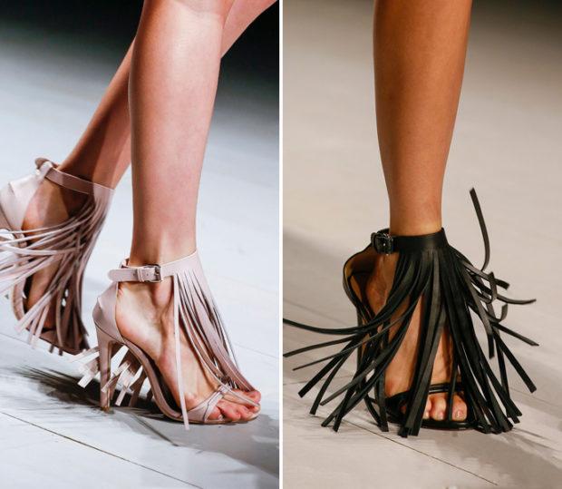 Изящная обувь с бахромой