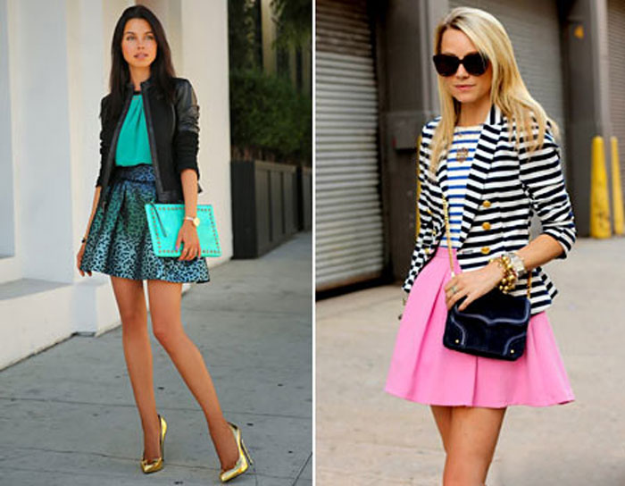 Стильные пышные юбки фото