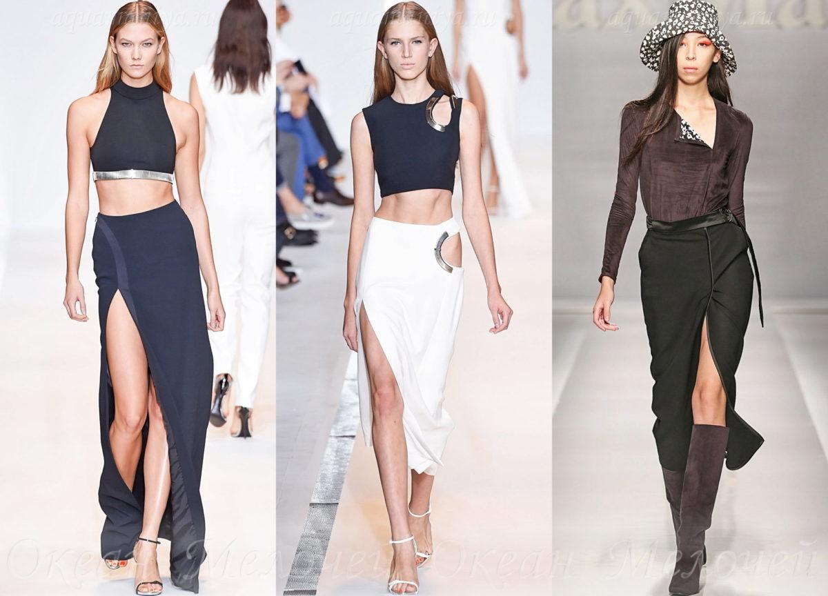 Модные юбки с разрезом