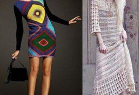 Вязаные платья - фото. Модные тенденции 2018