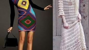Вязаные платья – фото. Модные тенденции 2017