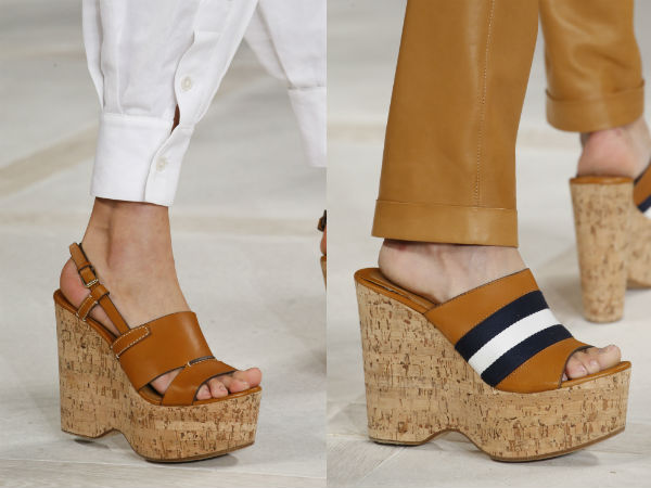 Обувь на плотформе из пробки
