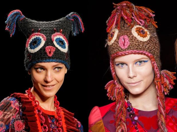 Забавные шапки с ушками