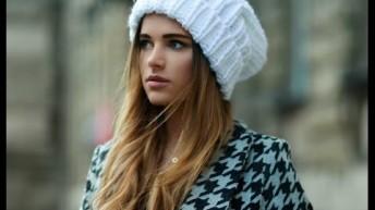 Вязанные шапки – фото трендовых головных уборов