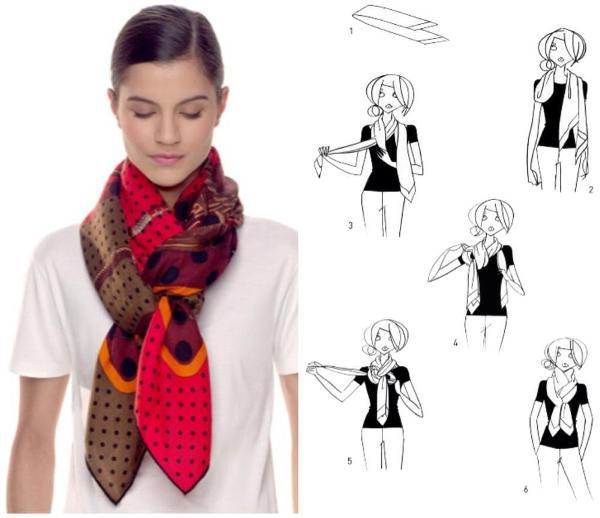 Как красиво завязать шарф на шее с