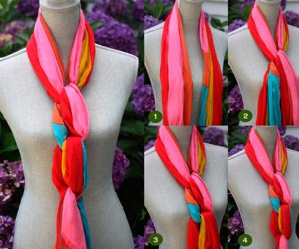 Яркие шарфы
