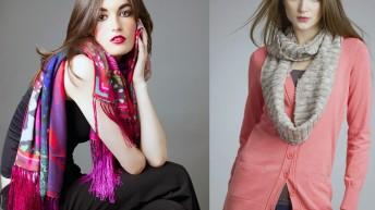 Как завязать шарф , платок разными способами
