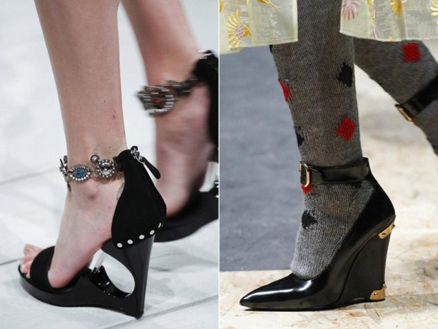 Модные туфли с ремешками