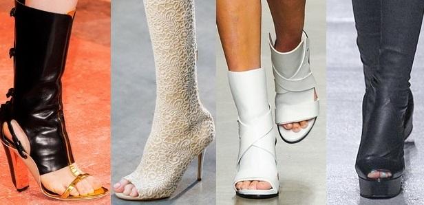 Обувь с открытым носком и пяткой