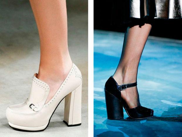 Модный устойчивый каблук